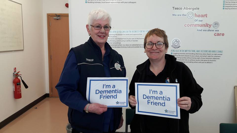 Theresa from Dewi Sant Centre became a Dementia Friend with the lovely Cheryl Williams