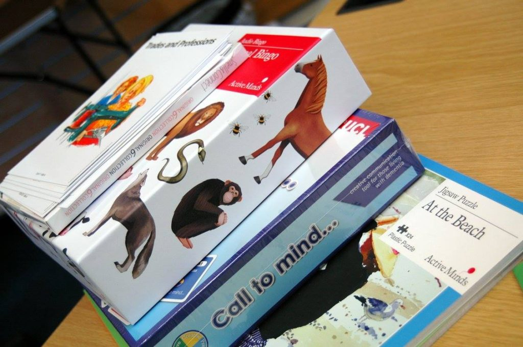 Dementia friendly games and activities at the Memory Cafe