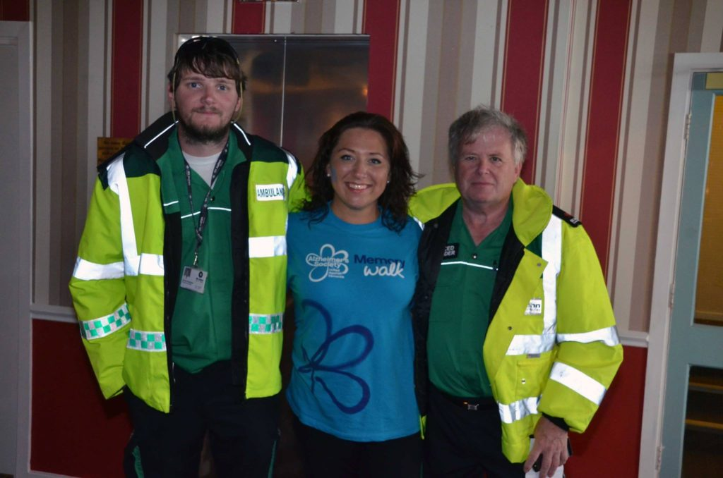 Our very own Lucie Williams with the first aiders from St John's Ambulance.
