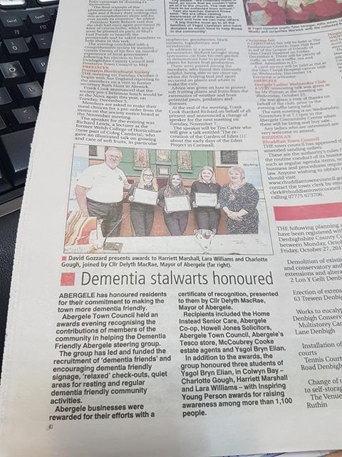 Great! Coverage of our awards night in the Journal newspaper: 01.11.17
