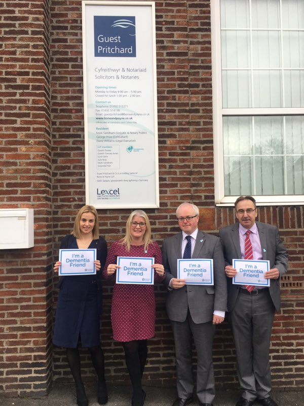 Dementia Friends made at Bone and Payne Solicitors- well done guys!
