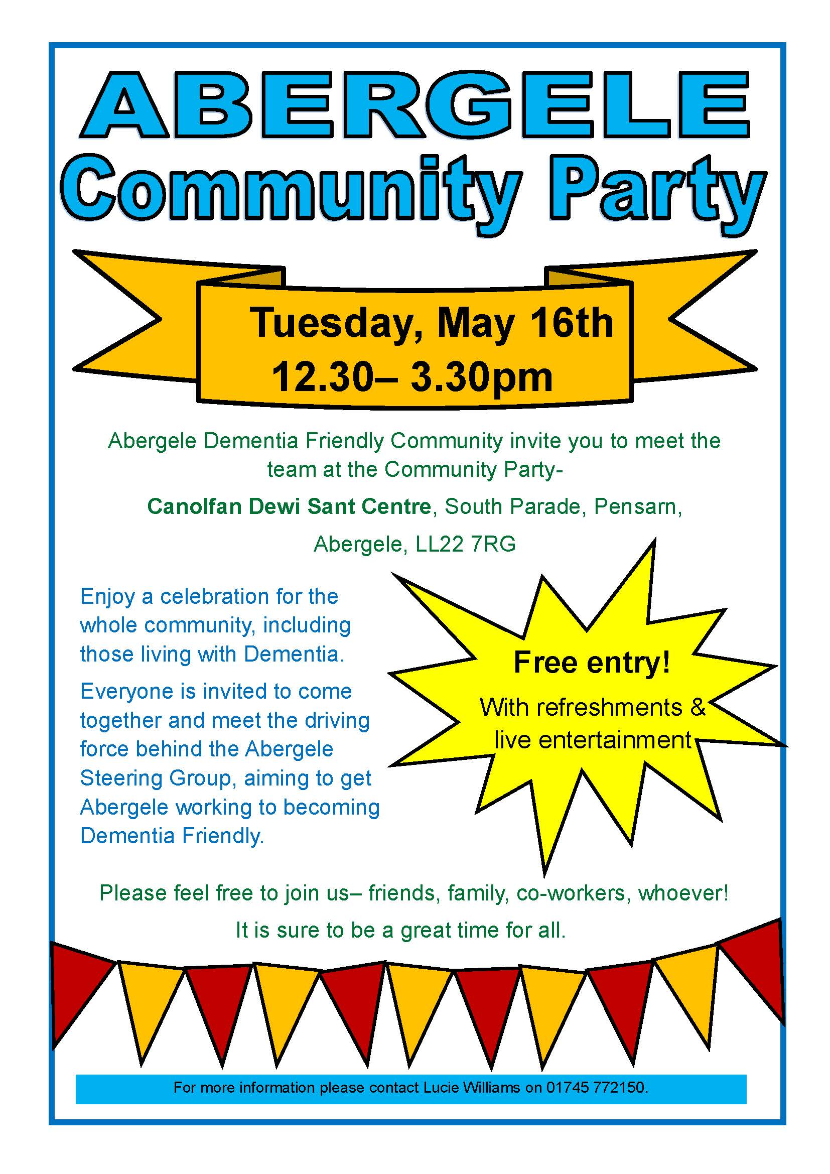 You're invited to Abergele Community Party!