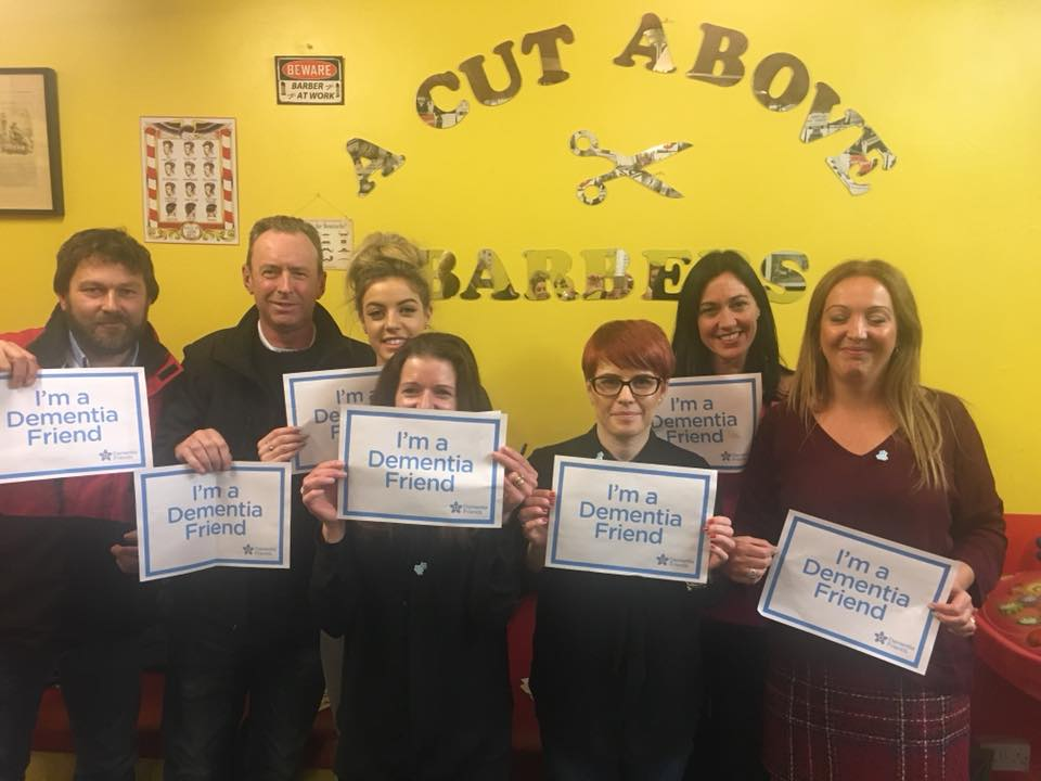 One of our local barbers, A Cut Above, have staff that are now Dementia Friends