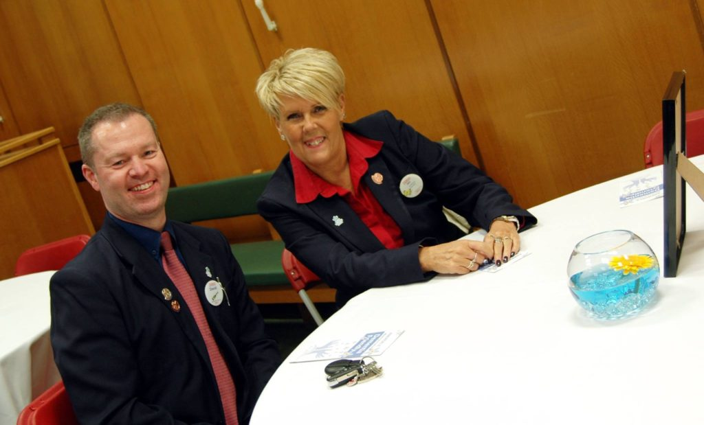 David and Jan looking rather please- Well done to you both and your team at Tesco Abergele!