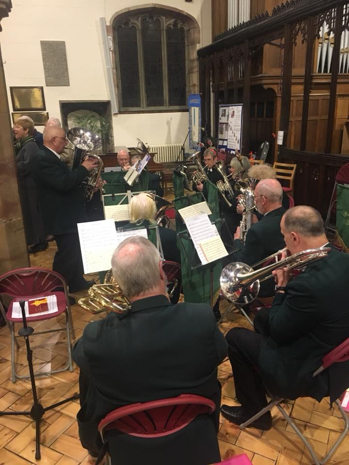 Beulah Brass Band entertaining the crowd