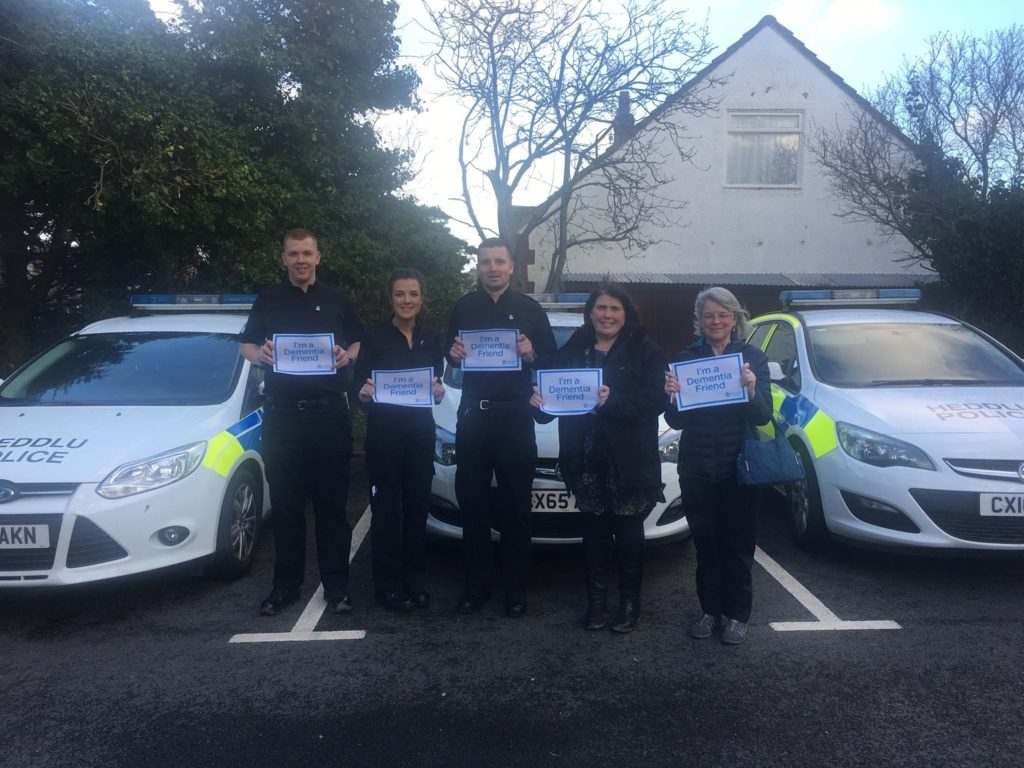 Abergele Police and members from Conwy Trading Standards