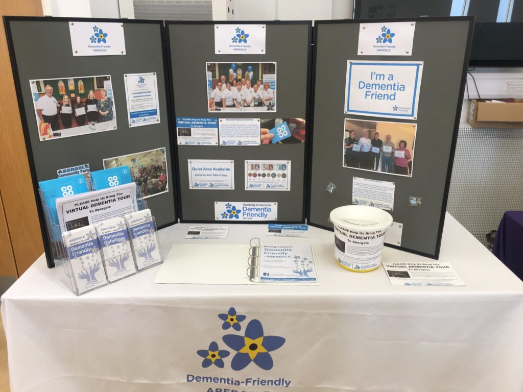 Our stand at the Community Wellbeing Information Day