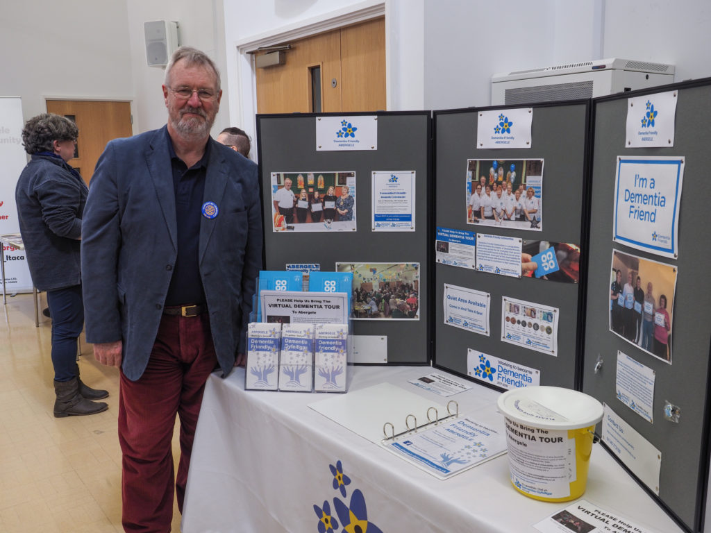 Chairman, David, at the event stand