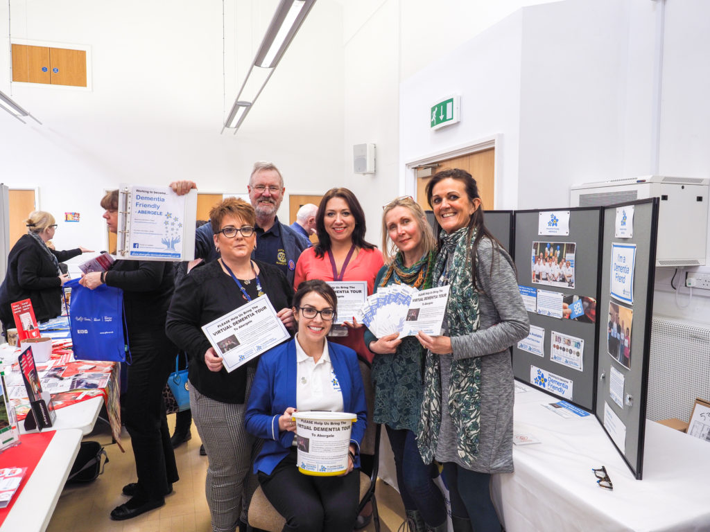 Some of the steering group members at the Community Wellbeing Information Day