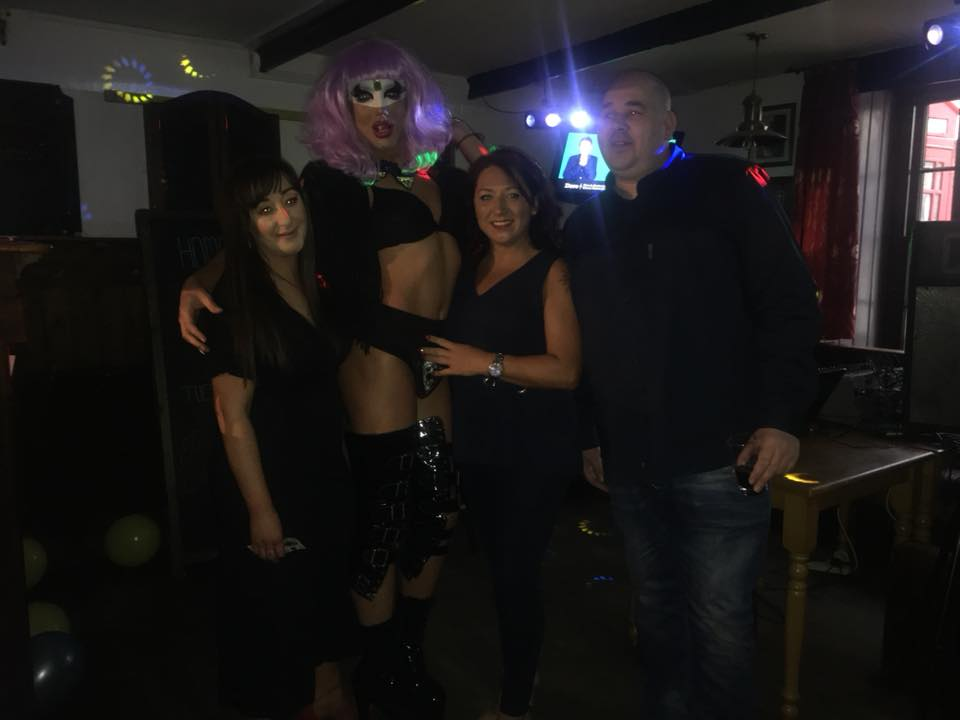 Lucie with the gang at the Harp Inn and Cherry Lane at their fundraising event