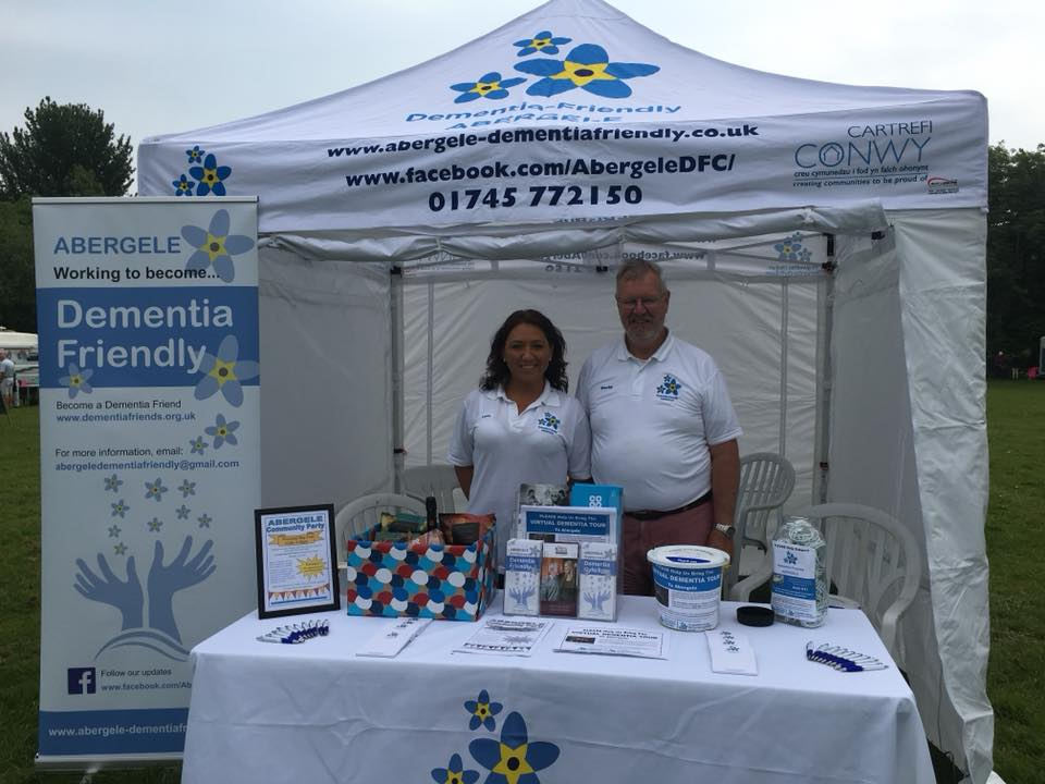 Lucie and David hosting our stall at the Abergele Food and Craft Festival